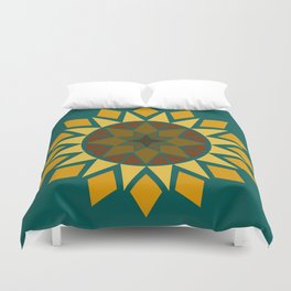 Native Sunflower Duvet Cover