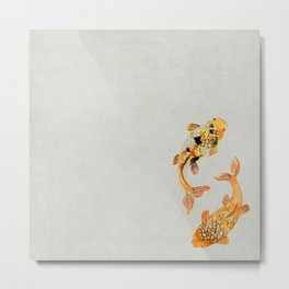 Colorful Ornamental Koi Fish Swimming Metal Print