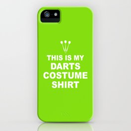 Funny Darts Costume Darts Arrow Gift iPhone Case