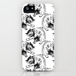 CAT CLEAN iPhone Case