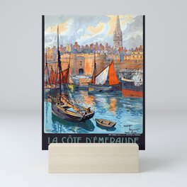 Vintage Saint-Malo Emerald Coast France Travel Mini Art Print