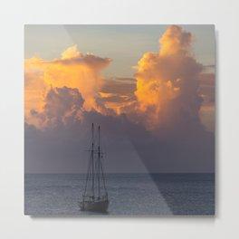 Barbados Sunset Metal Print
