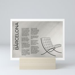 Chairs - A tribute to seats: I'm a Barcelona (information) Mini Art Print