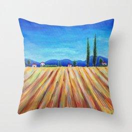 Summer Field landscape Throw Pillow