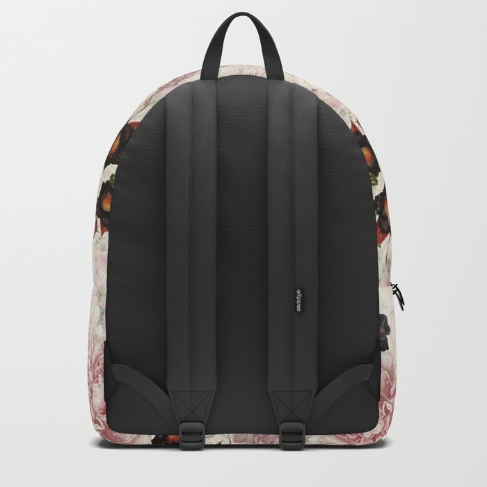 Small Vintage Peony and Ipomea Pattern - Smelling Dreams by #UtART Backpack