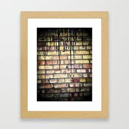 Tar on Brick Framed Art Print