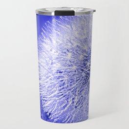 Dark Blue Summer Dandelion Puffball 2blue Travel Mug