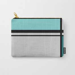 Cross Lines in turquoises Carry-All Pouch