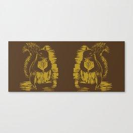 Gold Squirrel Mug Canvas Print