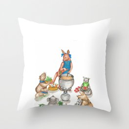 Too Many Cooks Make a Powerful Broth Throw Pillow