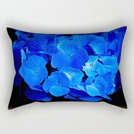 Deep Blue Hydrangea Rectangular Pillow