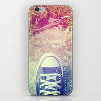 converse iPhone & iPod Skins featuring Converse by Jane Mathieu
