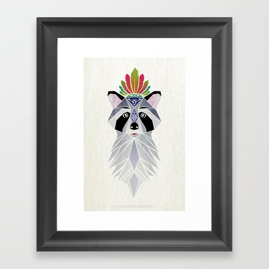 raccoon spirit Framed Art Print