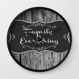 Family Is Everything Farmhouse Decor Wall Clock