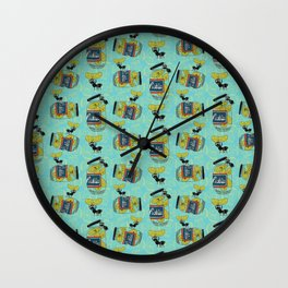 The Pickle Thief (Blue) Wall Clock