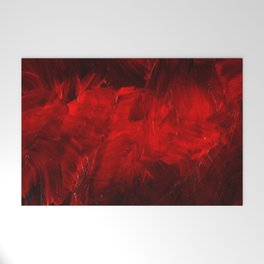 Red And Black Luxury Abstract Gothic Glam Chic by Corbin Henry Welcome Mat