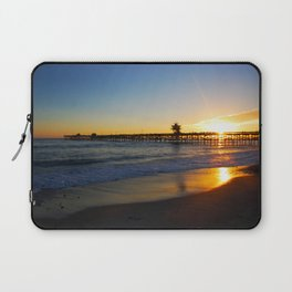 San Clemente Ca pier sunset Laptop Sleeve