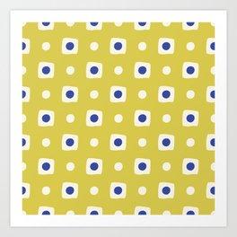 Mid Century Square Dot Pattern 8 Art Print