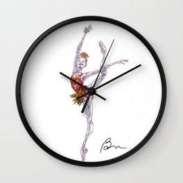 Melissa Hamilton in Rubies Wall Clock