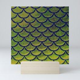 Chartreuse Cobalt Scales Mini Art Print