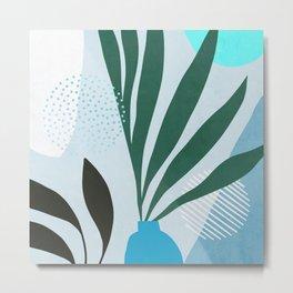 Blue Urban Jungle Metal Print