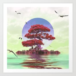 Bodhi tree Art Print