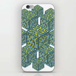 Cubed Mazes iPhone Skin
