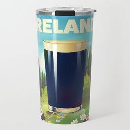 Ireland cartoon travel poster Travel Mug