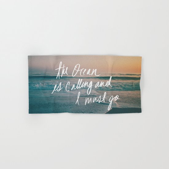 The Ocean is Calling by Laura Ruth and Leah Flores Hand & Bath Towel