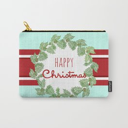 Happy Christmas striped holiday Carry-All Pouch