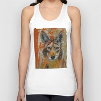 coyote Tank Tops featuring Coyote by Ali Kirby
