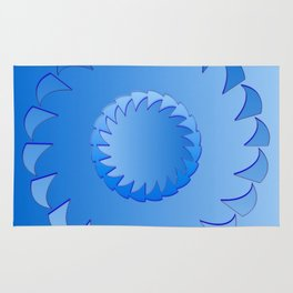 Rounded blue 1 Rug