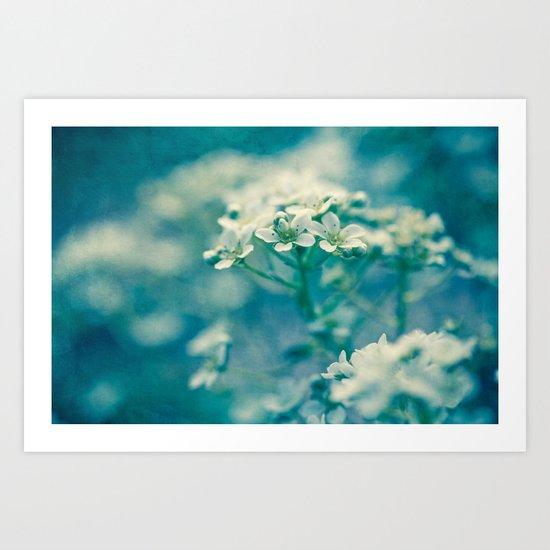 little blue and green Art Print