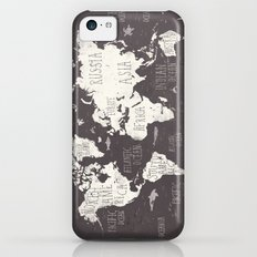 The World Map iPhone 5c Slim Case