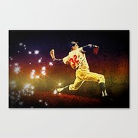 dodgers Canvas Prints featuring Speed of light by 6-4-3