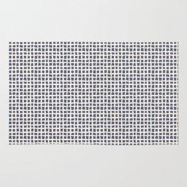 Blue Scribbles Pattern 07 Rug