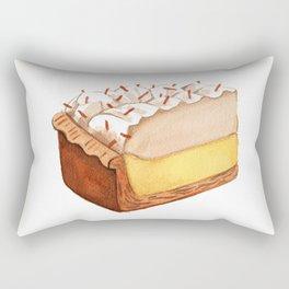 Coconut Cream Pie Slice Rectangular Pillow