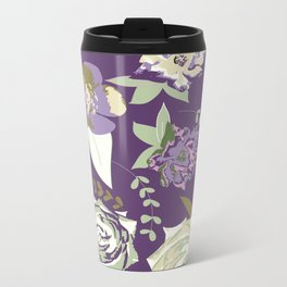 Dark velvet roses Metal Travel Mug
