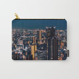 Osaka - Umeda - Skyline - Buildings - Cityscape. Vintage illustration. Retro Lovers. Carry-All Pouch