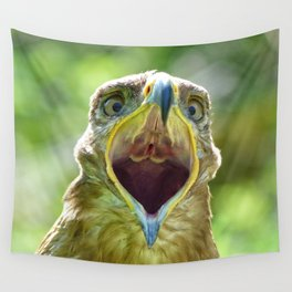 Screaming Steppe Eagle Wall Tapestry