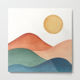 Colorful Abstract Mountains Metal Print