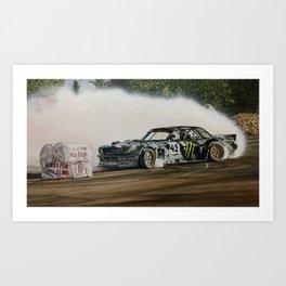 Ken Block Hoonicorn Drift Car Art Print