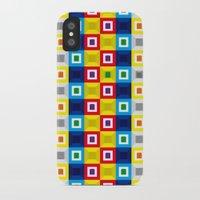 Squares Pattern Slim Case iPhone X