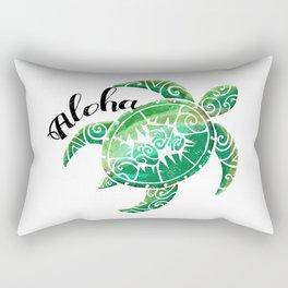 Vintage Hawaiian Distressed Turtle Rectangular Pillow