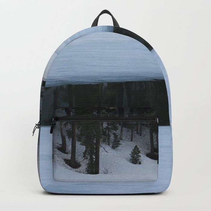 Snow. Stripes. Fogged Mirror. Backpack