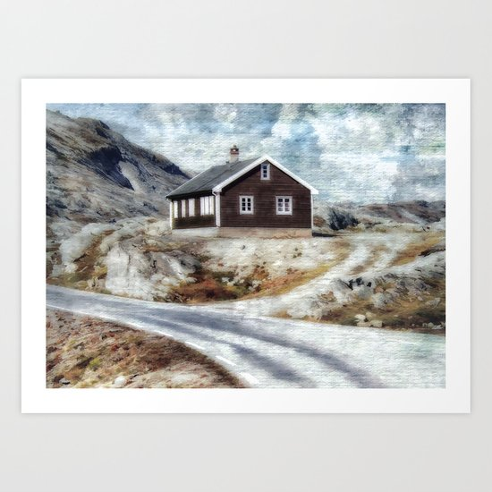 House On Dalsnibba Road Art Print