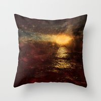 italian Throw Pillows featuring Italian Sunset  by Brianna Clare