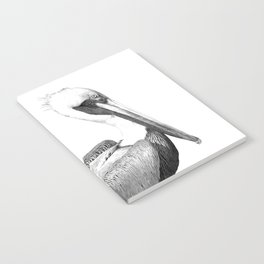 Black and White Pelican Notebook