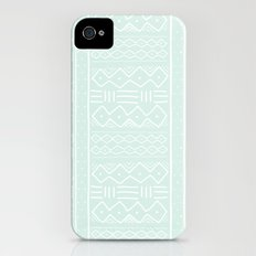 Mudcloth in mint iPhone (4, 4s) Slim Case