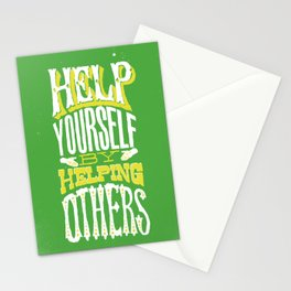 Help Yourself By Helping Others Stationery Cards